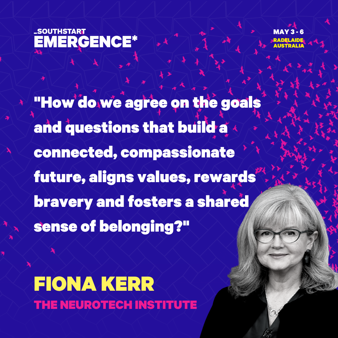 Fiona Kerr and Gill Hicks are booked to speak at South Start: Emergence